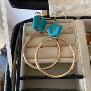 turquoise danglies